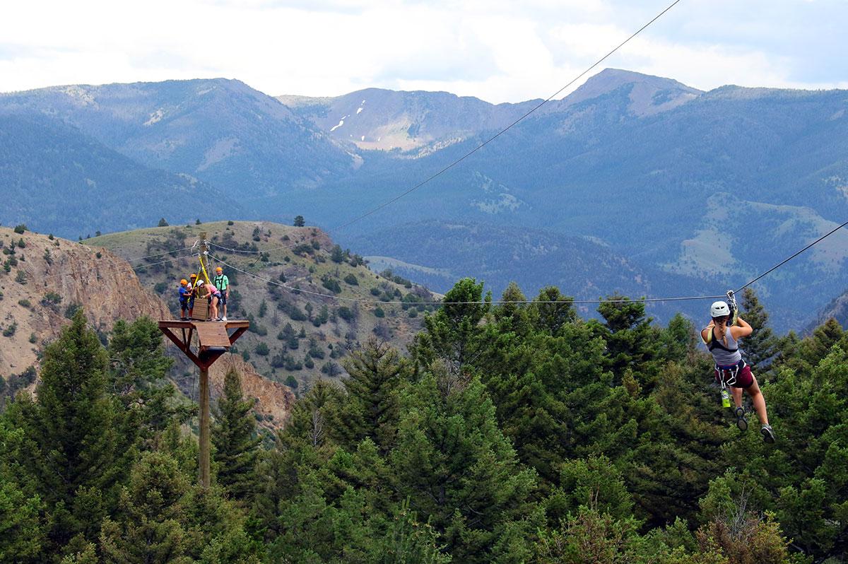 Yellowstone Zipline Guided Adventure Tours Of Bozeman Big Sky And Gardiner